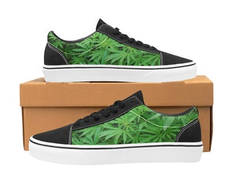 51b13575a5 all over printed cannabis Sneakers