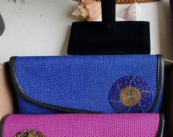 61e1b00a3b8e Purse with African Beaded Artwork