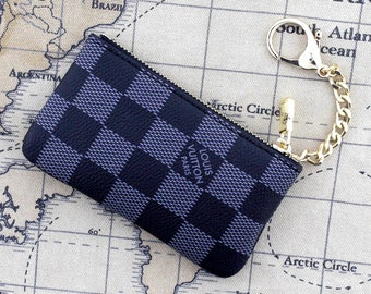 ba2f47ef9ee2fa Women Coin Pouch, Coin Purse, Women card holder, Bag Charm, Women Coin Purse,  women coin bag, damier coin wallet, woman keychain, key holder
