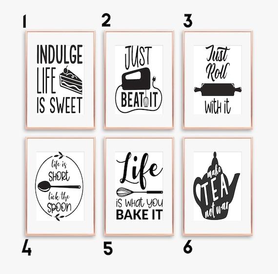 Funny Kitchen Quotes Kitchen Prints Kitchen Decor A5 A4 A3 Etsy