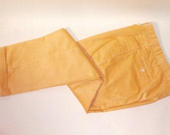 50/% SUMMER SALE Vintage 70s Stefano International Mauve Pink Corduroy Tapered Leg High Waist Minimal Cotton Pockets Pants Sz 10 Medium