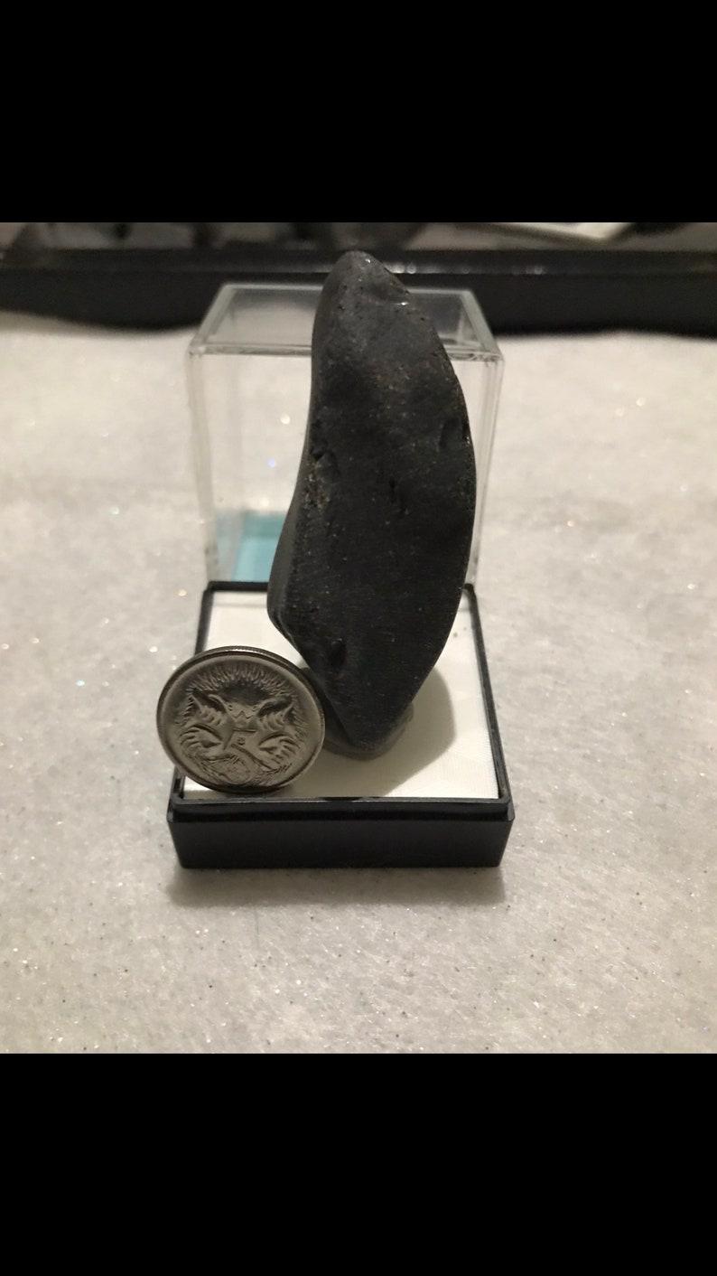 Genuine Vintage BlackYellow Australian Sea Glass.
