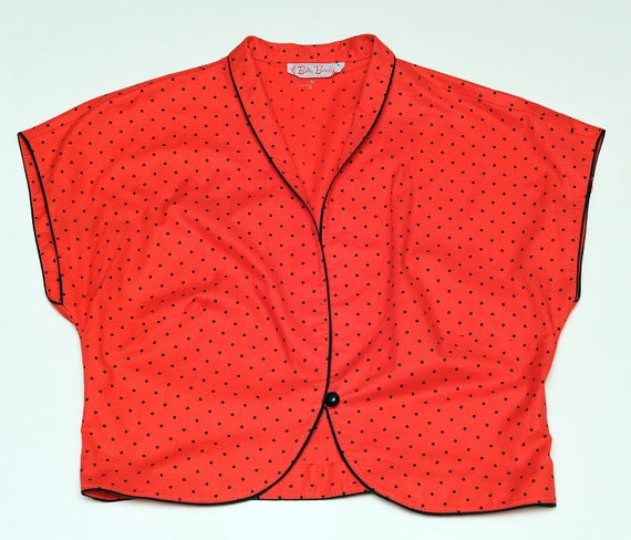Vintage red crop top by Betty Barclay