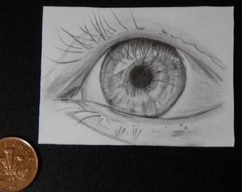 Eye Pencil Drawing Etsy