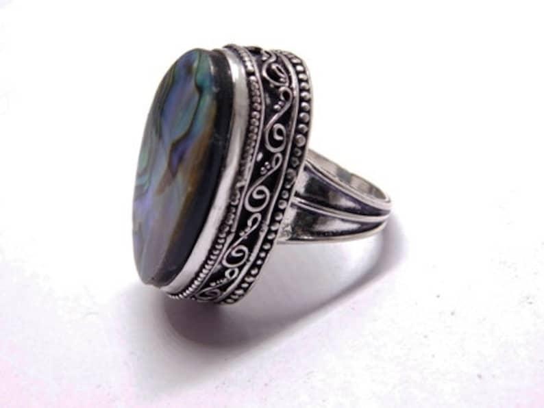 Abalone shell Ring Shell girlfriend ring Shell Ring Sterling Silver ring, Statement Ring Abalone Ring Healing Ring Shell Jewelry