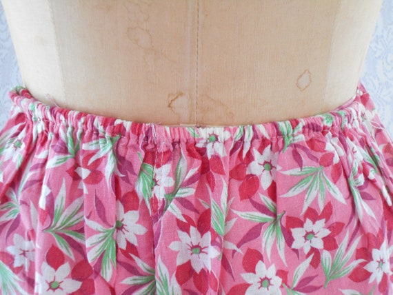 1930's Pink and Red Floral Beach Palazzo Loungewe… - image 5