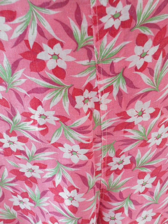 1930's Pink and Red Floral Beach Palazzo Loungewe… - image 4