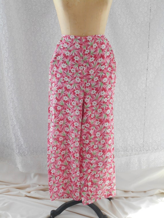 1930's Pink and Red Floral Beach Palazzo Loungewe… - image 2