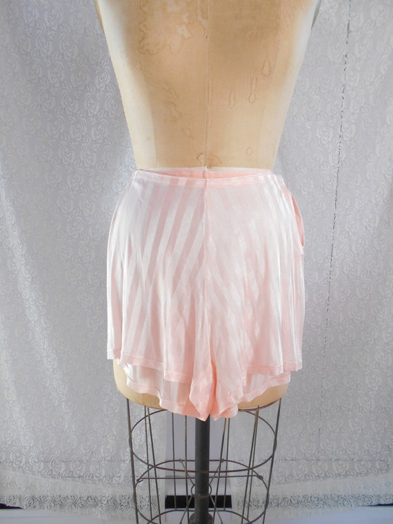 Beautiful 1930's Pale Pink Striped Silk Tap Pants
