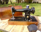Singer 201K Electric Sewing Machine 1950 Bentwood Case Key Vintage Singer Sewing Machine Electric 201k