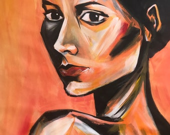Portrait in Acrylic, acrylic painting, portrait