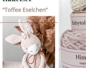 Crochet Set Toffee Donkey, Crochet Kit, DIY Crochet Set, DIY Donkey Crochet Kit