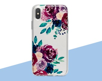97300d9c72ae iPhone XS Max Case Floral iPhone X Case Wildflowers iPhone 8 Plus Case  Samsung Galaxy S8 Case Samsung S7 Edge Case Silicone iPhone Xr Case