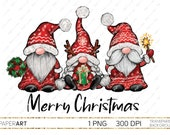 Gnome PNG, Christmas Sublimation Download, Ready to print, Merry Christmas Santa Gnomes PNG, Scandinavian Gnomes, Nordic Tomte Gnomes PNG