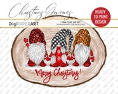 Buffalo Plaid Gnome PNG, Leopard Gnome Clipart, Christmas Gnome Sublimation Design, Ready To Print Design, Tomte Nisse Nordic Gnomes