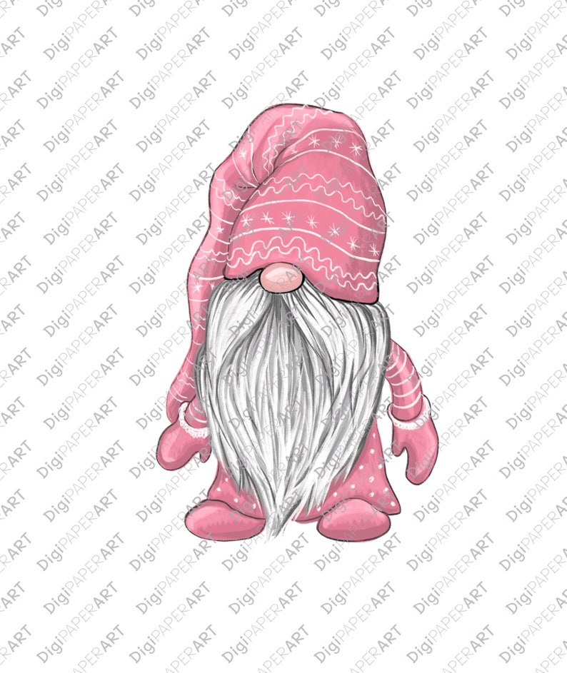 Gnome PNG Pink Gnome Clipart Nordic Gnomes Blush Pink Christmas PNG Tomte Nisse Graphic PNG Design Elements Scandinavian Gnomes Clipart