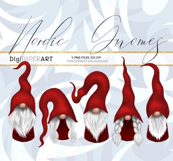 Christmas Gnomes Clipart.Scandinavian Gnome Clipart Christmas Gnomes Clipart Nordic Gnomes Clip Art Christmas Fair Tomte Graphic Decoration Png Design Elements