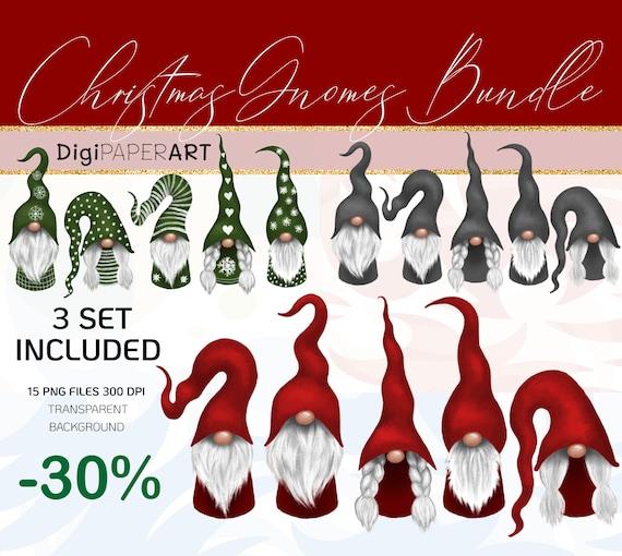 Christmas Gnomes Clipart.Scandinavian Christmas Gnomes Clipart Bundle Nordic Gnomes Clip Art Tomte Graphic Decoration Christmas Png Design Elements