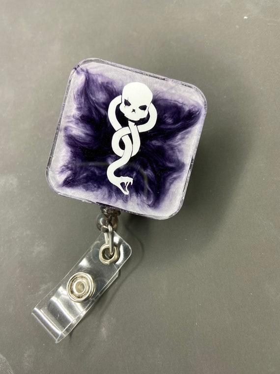 Harry Potter Inspired badge reel Death Eater Dark Mark Badge Reel