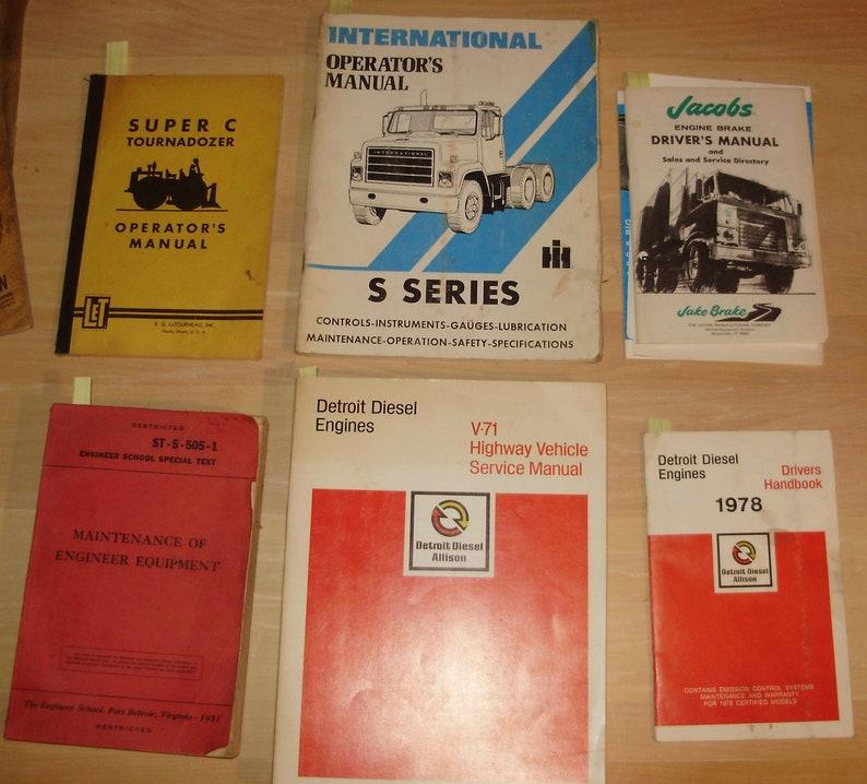 Super C tournadozer * S Series Manual * Brake drivers manual *Diesel type  manual and st-5-505-1