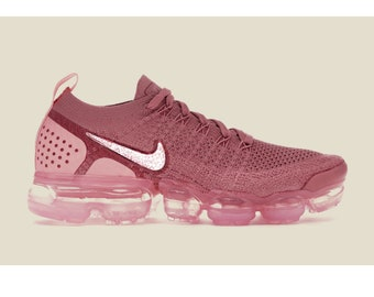 d384e9d807f Nike air Vapormax Flyknit 2 Women rust pink with Swarovski Crystal