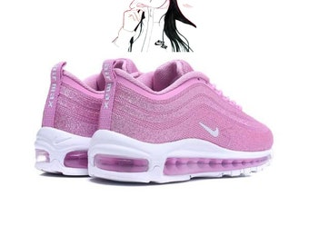 lowest price 75918 2dc56 Swarovski Nike Air Max 97 White pink