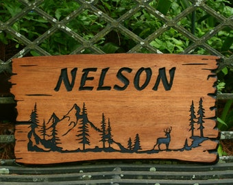 Custom Wood Signs - Camping - Outdoor Wooden Sign - Camp - Carved - Personalized Sign - Family Name  - Camper - Lodge - Address