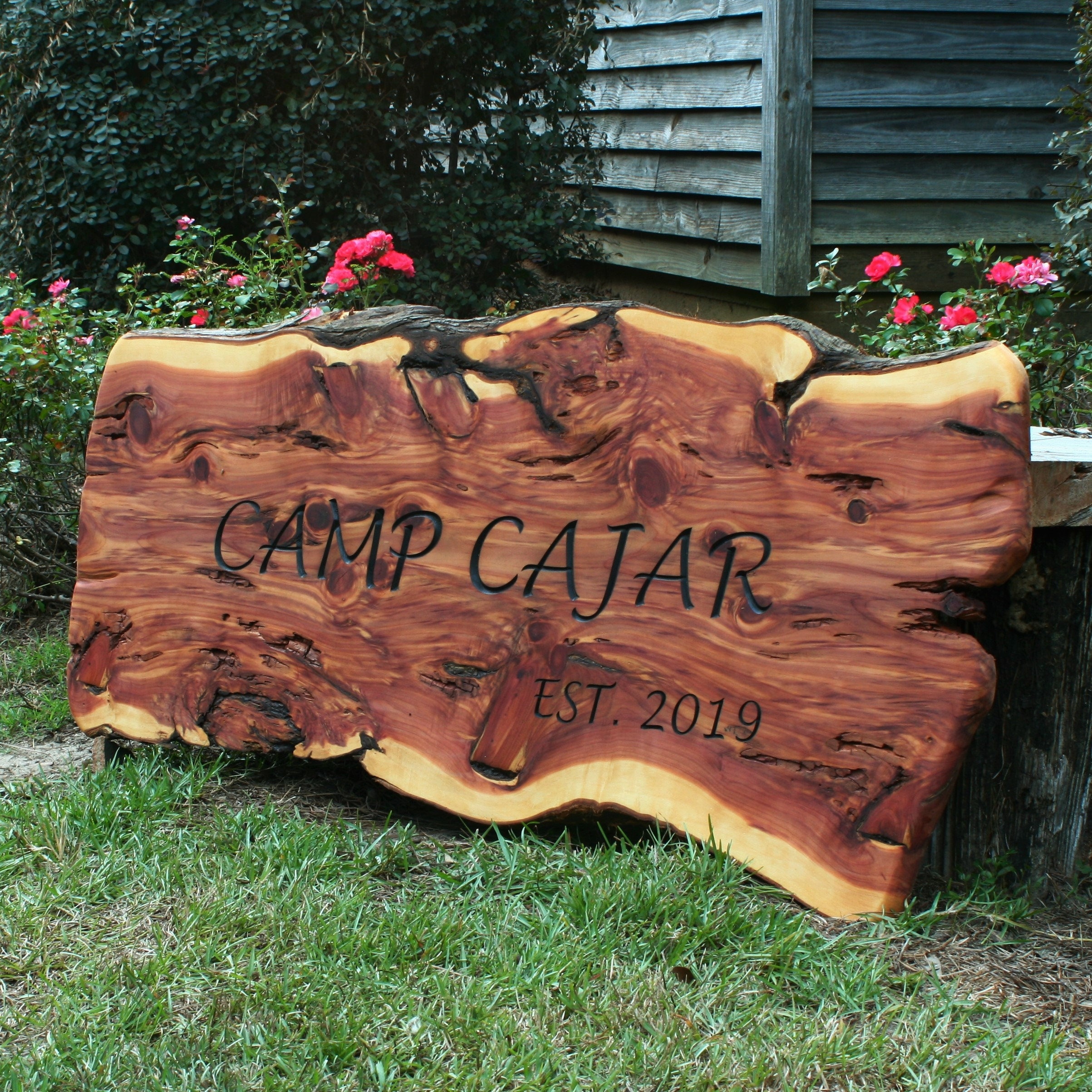 We hope you brought wine /& dog treats live edge cedar wood engraved sign  #funnysigns