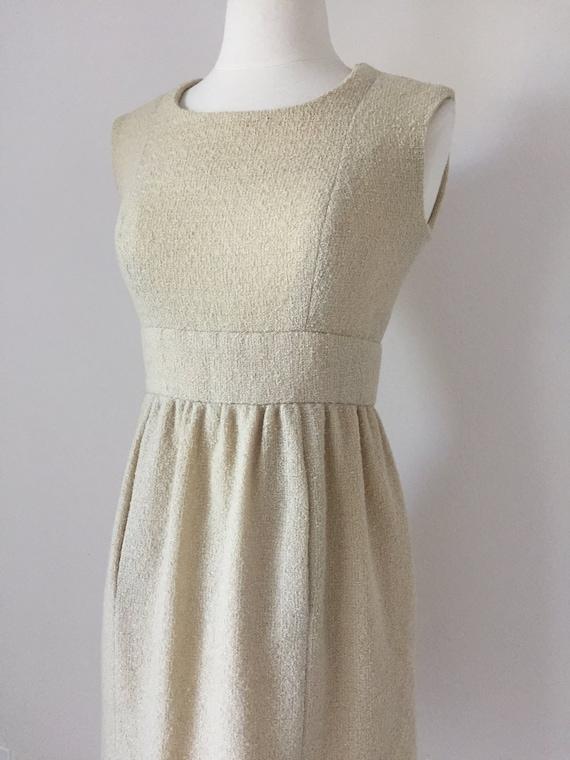 Ivory I. Magnin Boucle Tank Dress - image 2