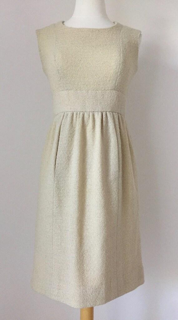 Ivory I. Magnin Boucle Tank Dress - image 1