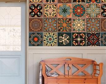mexicain carrelage céramique fait à la main espagnol influence Talavera Art Mosaïque C#105