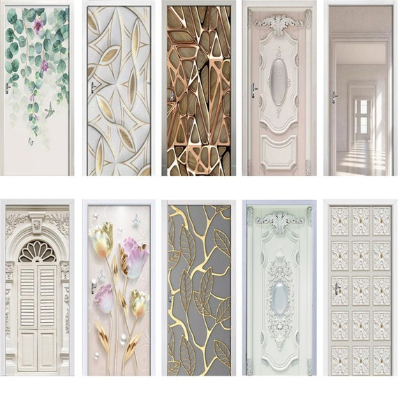 Removable Home Decor Door Sticker Self Adhesive Decal Modern Abstract background  DS/_2195