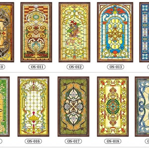 Stained Glass Window Film Etsy
