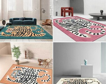 Animals Series Carpet Child Play Area Rugs Cute Tiger skin 3D Printing Carpets for Kids Bedroom Game Rug Home Floor Mats