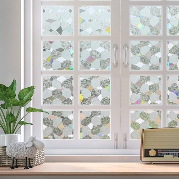 Poetry Static Cling Glass Window Film Privacy Frosted Opaque ...