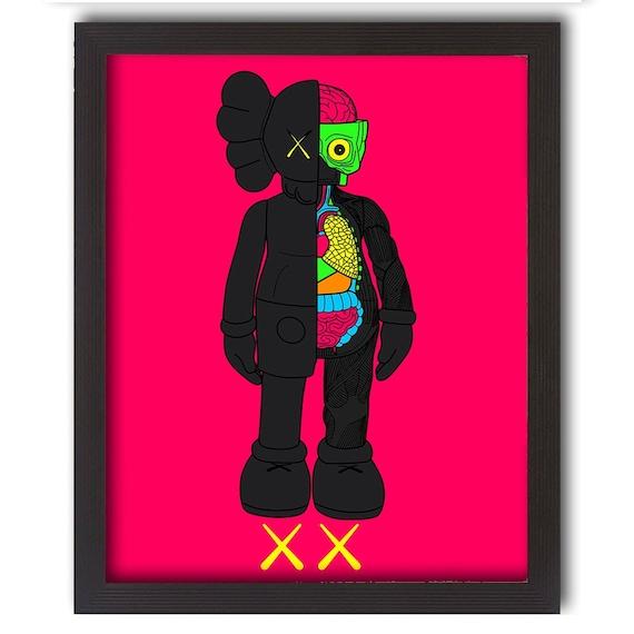 KAWS Dissected Vectors Art illustration poster print swag Modern Vinyl  Street Wear