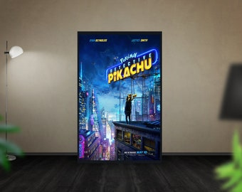 "Pokemon Detective Pikachu Poster Ryan Reynolds Movie Silk Print 27x40/"" 32x48/"""