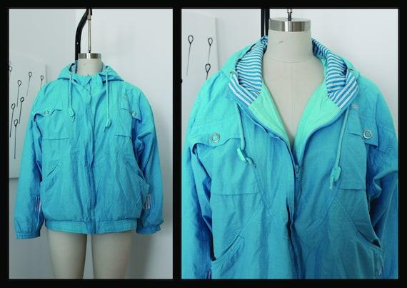 Vintage ADIDAS Raincoat Rain coat Windbreaker Outwear Activewear Jacket Sweatshirt Medium M Tracksuit Track Top Shell