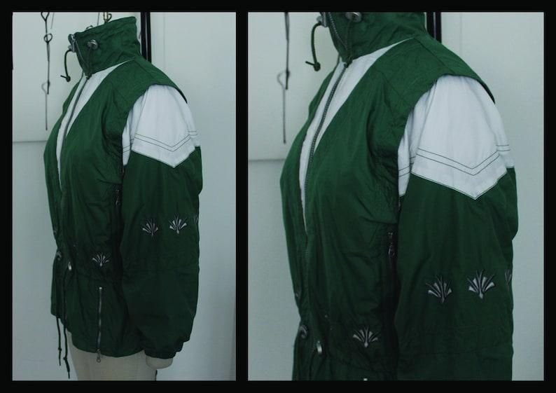 80s Outwear jacket Coat Windbreaker,Track Top Parachute Tracksuit, Activewear Sportswear,size10-12,size40-42