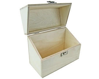 GmbH wooden box with folding lid (220 x 100 x 170 mm L/W/H inside) - box - box - casket - wooden box - box - chest