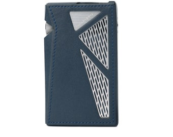 Dignis for Astell&Kern AK SR25 Italy Genuine Leather Case Cover + Top/Bottom Protection Film Italy Leather SR25 Case (Navy)