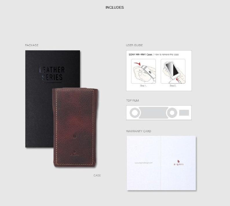 Box Black Dignis for Sony NW-WM1A NW-WM1Z NW-WM1 Walkman Genuine Leather Case Cover BoxWax Case