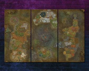 Azeroth map | Etsy