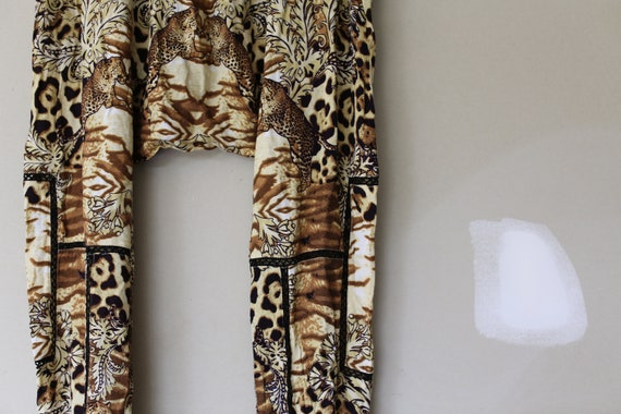 Vintage Leopard Print Harem Pants l Animal Print … - image 4
