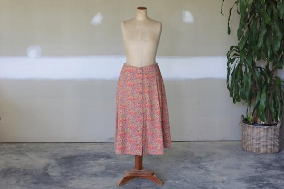 Vintage Floral Paisley Skirt l Boho Hippie Festiva