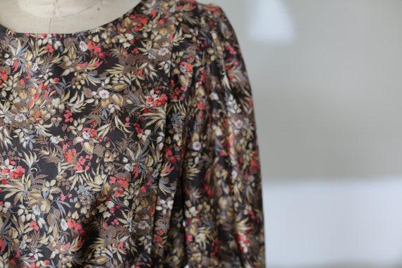 Vintage Floral Dress l Festival Tea Dress l 70's … - image 4