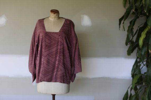 Vintage Japanese Silk Kimono   70's Silk Robe