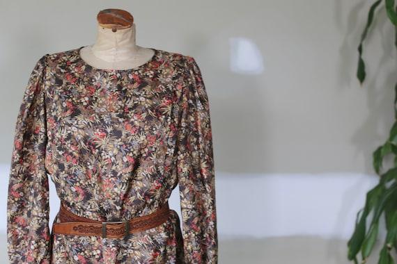Vintage Floral Dress l Festival Tea Dress l 70's … - image 2