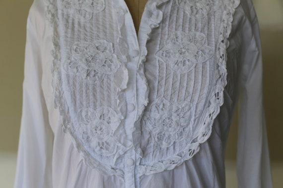 Vintage Edwardian Lace Blouse | 70's Crochet Blou… - image 3