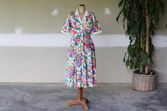 Vintage English Floral Summer Dress l Floral Garde